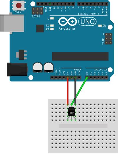 arduino-LM35-montaje-electrico