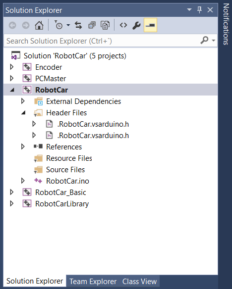 visual-studio-arduino-solution-explorer