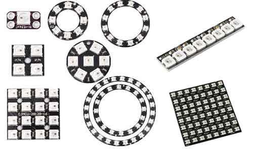 conectar arduino con paneles y tiras led rgb ws2812b
