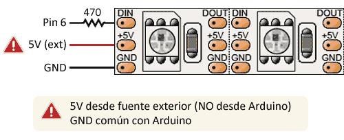 arduino-ws2812b-esquema