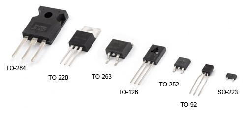 پپکیج های مختلف ترانزیستور