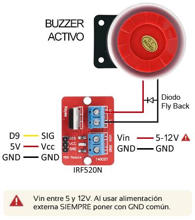 arduino-buzzer-activo-mosfet-montaje