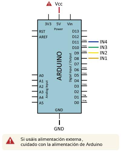 arduino-motor-paso-paso-28byj-48-uln2033-conexion