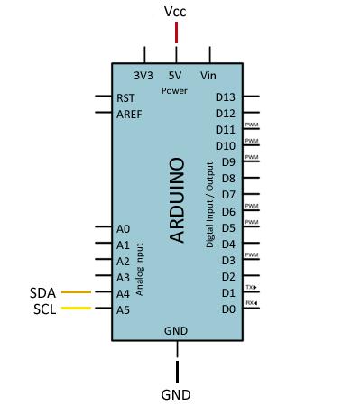 arduino-acelerometro-mma7455-conexion
