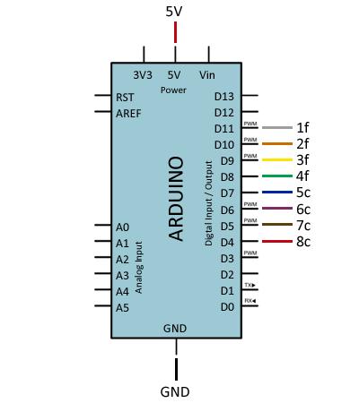 arduino-teclado-matricial-conexion