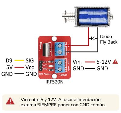 arduino-actuador-electromagnetico-esquema