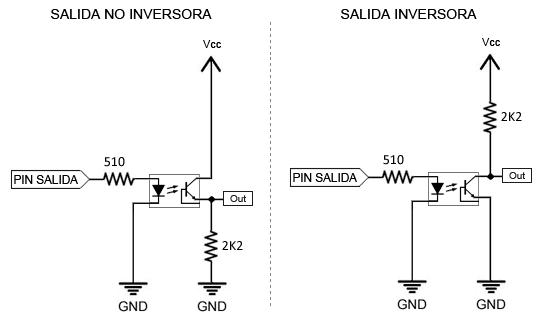 Circuito Optoacoplador : Salidas y entradas aisladas con arduino optoacoplador