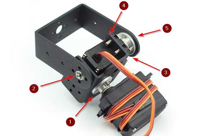 arduino torreta servo metal montaje - Electrogeek