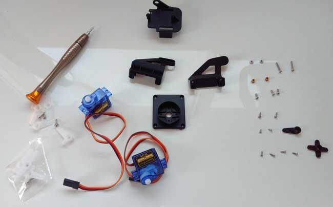 arduino torreta servo plastico montaje 00 - Electrogeek