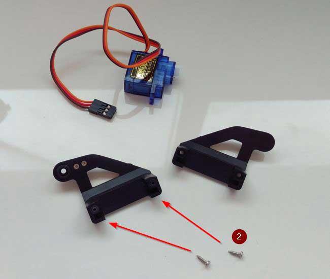 arduino torreta servo plastico montaje 02 - Electrogeek