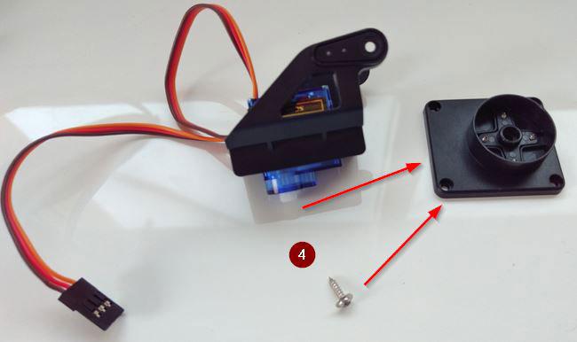 arduino torreta servo plastico montaje 04 - Electrogeek