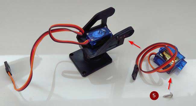 arduino torreta servo plastico montaje 05 - Electrogeek