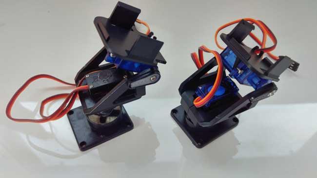 arduino torreta servo plastico montaje final - Electrogeek