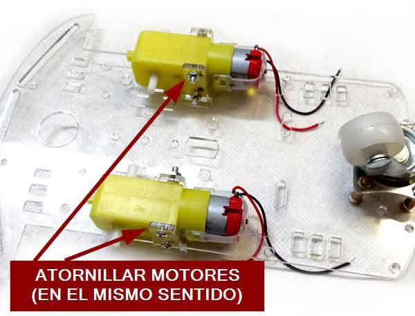 robot 2WD arduino montaje motores - Electrogeek