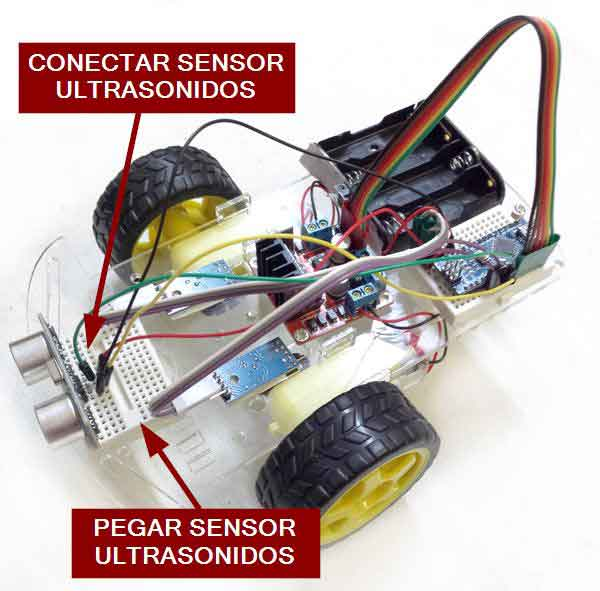 robot 2WD arduino montaje ultrasonidos - Electrogeek