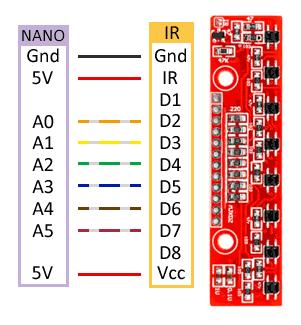 robot 2WD arduino conexion detector lineas - Electrogeek