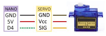 robot 2WD arduino conexion servo - Electrogeek