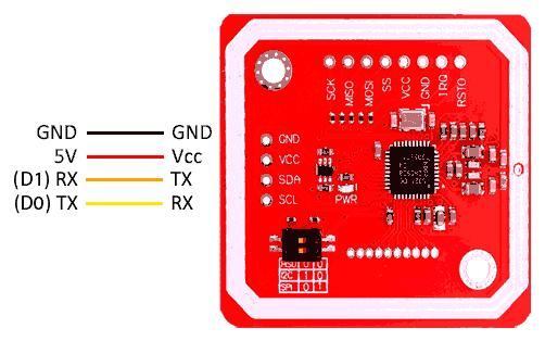 arduino nfc pn532 i2c esquema - Electrogeek