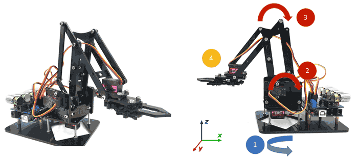 brazo robot arduino 4dof - Electrogeek