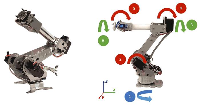 brazo robot arduino 7dof - Electrogeek