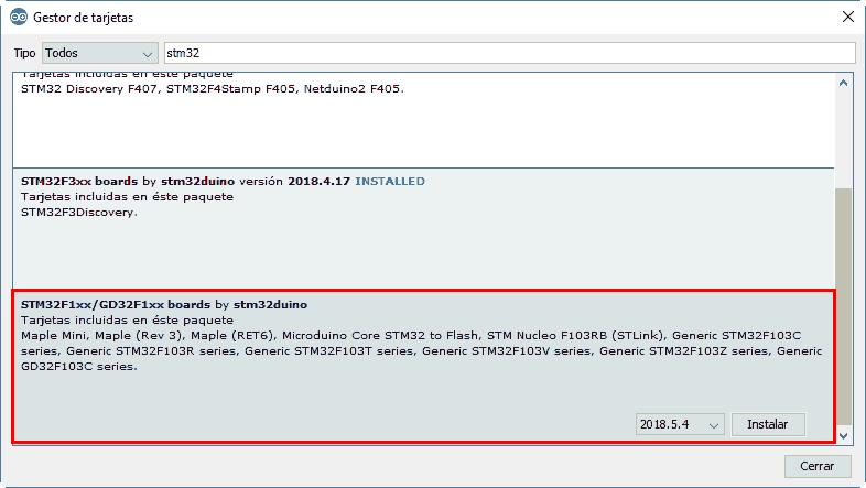 Programar STM32 con IDE de Arduino y conversor USB-TTL