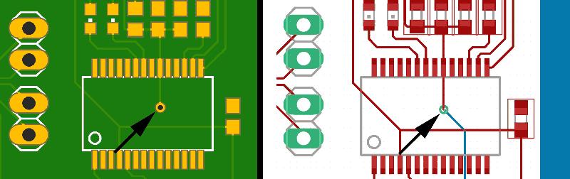 PCB via ejemplo - Electrogeek