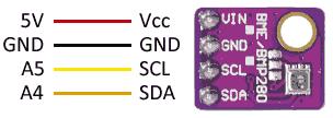 arduino bmp280 bme280 esquema - Electrogeek